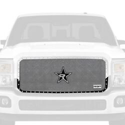 For Ford F-250 Super Duty 11-16 Main Grille 1-pc Rx-5 Halo Series Chrome Dual