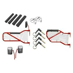 For Jeep Wrangler Jk 18 Red Baron Front And Rear Tube Door Kit W White Mesh