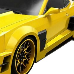 For Chevy Camaro 10-13 Ccg Style Fiberglass Wide Body Side Skirts Unpainted