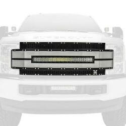 For Ford F-250 Super Duty 17-19 Main Grille 1-pc Torch-al Series Black Honeycomb