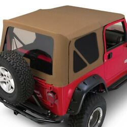 For Jeep Wrangler 1997-2006 Rampage 68817 Spice Denim Complete Soft Top