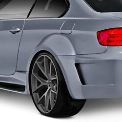For Bmw M3 08-13 Af-5 Style Wide Body Fiberglass Rear Fender Flares Unpainted