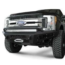 For Ford F-250 Super Duty 17-19 Bumper Honeybadger Full Width Black Front Winch