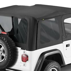 For Jeep Wrangler 97-02 Bestop 79124-01 Replace-a-top Black Sailcloth Soft Top