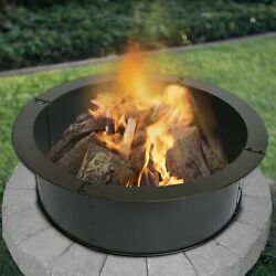 28 Outdoor Living Heavy Duty Steel Round Fire Pit , Fireplace Ring Yard Ring