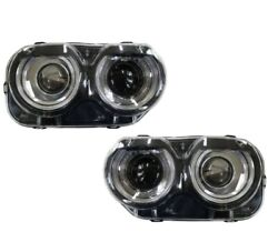 Dodge Challenger 2015-2019 Hid Xenon Headlights Head Lamps Front Lights Pair