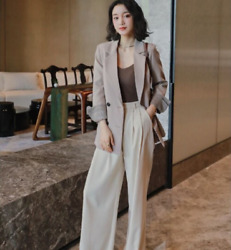 Women's Jacket Temperament Interview Ol Formal Business Work Clothes Small Suit