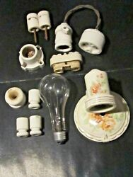 Vintage Very Rare Porcelain Lights Insulators And More Steampunk