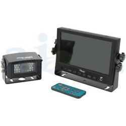 Tractor Cabcam Video System With 7 Monitor And Camera Kit W/ Remote And Accessories