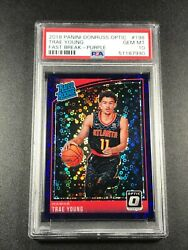 Trae Young 2018 Panini Donruss Optic 198 Fast Break Purple Rookie Rc /95 Psa 10