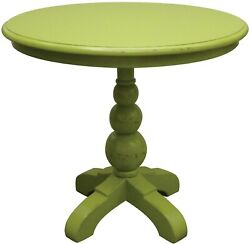 Trade Winds Soho Cafe Table End Side Traditional Antique Apple Green Pai