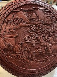 Large Chinese Antique Cinnabar Box Early Qing Dynasty