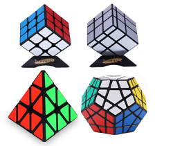 4 Pk Dreampark Speed Cube Set Includes 3x3 Speed Cube Pyramid Puzzle Mirror