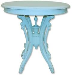 Trade Winds Victorian Tea Table End Side Traditional Antique Painted Aqua