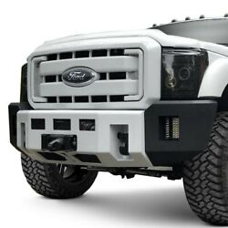 For Ford F-250 Super Duty 08-10 Bumper Alpha Series Full Width Raw Front Winch