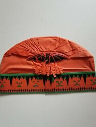Antique Halloween 1920and039s Beistle Crepe Paper And Band Hat Black Bat Amazing