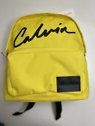 Calvin Klein Women's Backpack Yellow with Black $43.00