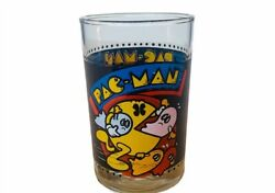 Pac-man Drinking Glass Vtg Bally Video Game Cup Mug Arbys Ghost Inky Clyde Pinky