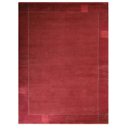 Hand Knotted Tibbati Wool 5and0397and039and039x7and03910and039and039 Area Rug Contemporary Light Red Bbt00206