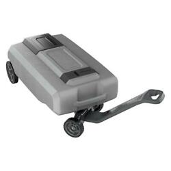 Rv Portable 27 Gallon Waste Tote Tank For Gray Black Sewer Water With Wheels