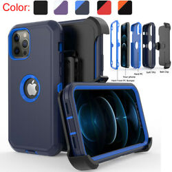 For iPhone 12 12 Pro Max 11 Pro Max XR Shockproof Case Stand Belt Clip Holster