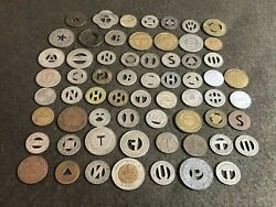 Lot Of 63 United States And Canada Vintage Transit Tokens