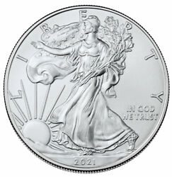 2021 $1 American Silver Eagle 1 oz Brilliant Uncirculated $43.06