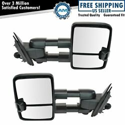 Tow Mirror Power Fold Heated Memory Smoke Signal Puddle Textured For Gm With Oat