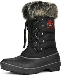 Dream Pairs Womenand039s Warm Faux Fur Lined Mid Calf Winter Snow Boots