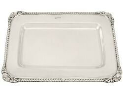 Sterling Silver Drinks Tray - Antique Victorian 1900