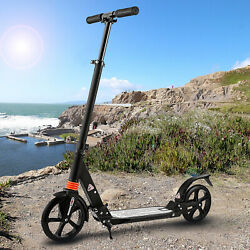 Caroma Folding Kick Scooters For Adults/teens With Big Wheels Adjustable T-bar.