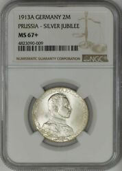 1913a Germany 2 Mark Prussia-silver Jubilee Ms67+ Ngc 943603-38