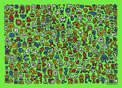 Mr. Doodle - Alien Town Print - Limited Edition X/300 Sold Out In Hand