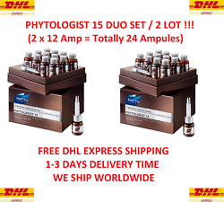 2 Pack-duo Phyto Phytologist 15 Anti-hair Loss Treatment 12 Amp X 3,5 Ml New