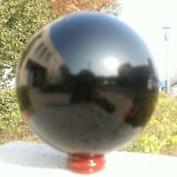 33lb Natural Black Obsidian Sphere Crystal Ball Healing Stone Collectibles