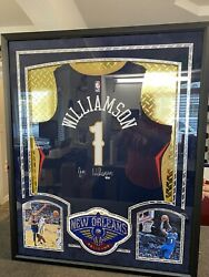 Zion Williamson New Orleans Pelicans Autograph Signed Custom Framed Nba Licensed