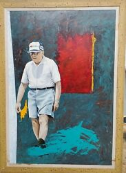 Taos Modern Portrait Of Mr. Kmart Founder Of The American Chain Of Stores.