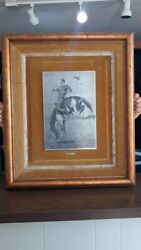 Exquisite Western Art - A Bucking Bronco By Remington