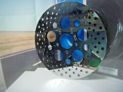 Harley Tour Polished Stainless Steel Drilled Brake Rotor Front Drag 1710-1061 Y2