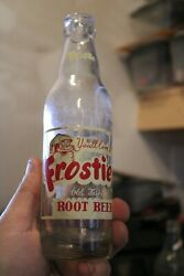 Antique 7 Oz. Clear Frostie Root Beer Soda Bottle, Item A-2676