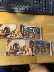 2007 And 2008 Us Presidential Dollar Proof Set Lot Of 2 Sets