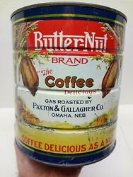 Vintage Butter Nut Coffee Can 3 Lbs 1988 Commemorative Canister Empty No Lid