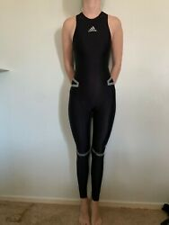 Rare Adidas Powerweb Full Body Suit Olympic Swimsuit Vintage Competition Racing