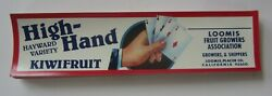 Wholesale Lot Of 100 Old Vintage High Hand Kiwi Labels - Four Aces Playing Cards
