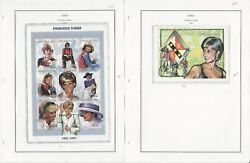Chad, Africa Stamp Collection On 16 Steiner Pages, 1989-99 Princess Diana, Jfz