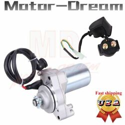 3 Bolt Starter Motor And Relay Solenoid For Chinese 50cc 70cc 90cc 110cc 125cc Atv