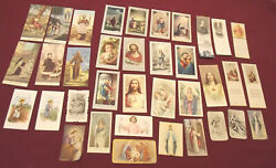 36 Miniature Vintage Holy Cards W/sub-sets Fratelli Bonella Book Markers More