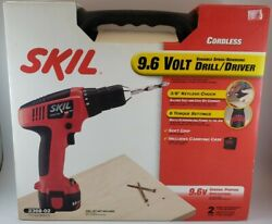 Skil 9.6 Volt Variable Speed Cordless Drill/driver W/batterycharger.casebit