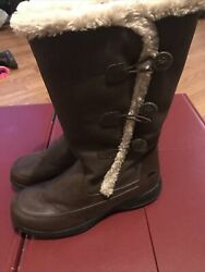 totes boots womens Brown Leather Size 11m $16.00
