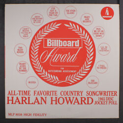 Harlan Howard All-time Favorite Country Songwriter Monument 12 Lp